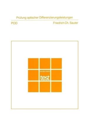 Test komplett bestehend aus: Handanweisung, Testheft und Mappe