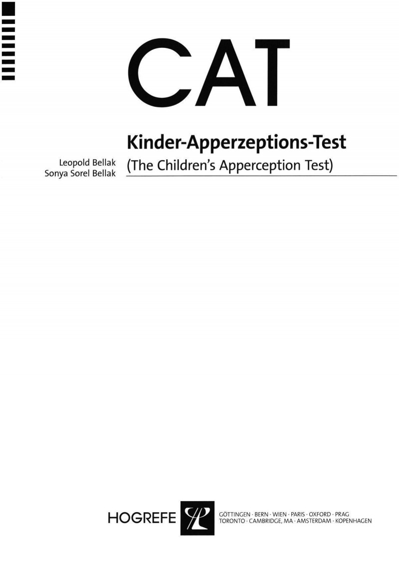 Test komplett bestehend aus: Handanweisung, Bildersatz, Auswertungsheft und Mappe