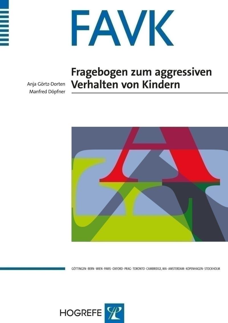 Test komplett bestehend aus: Manual, 10 Fragebogen FAVK-S, 10 Fragebogen FAVK-F, 10 Auswertungsbogen, 10 Profilbogen und Box