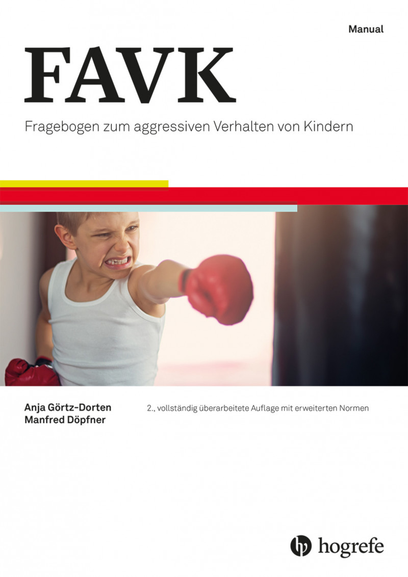 Test komplett bestehend aus: Manual, 10 Fragebogen FAVK-S, 10 Fragebogen FAVK-F, 10 Klinische Beurteilungsbogen FAVK-K, 10 Auswertungsbogen für FAVK-S und FAVK-F, 10 Auswertungsbogen für FAVK-K, 10 Profilbogen und Mappe