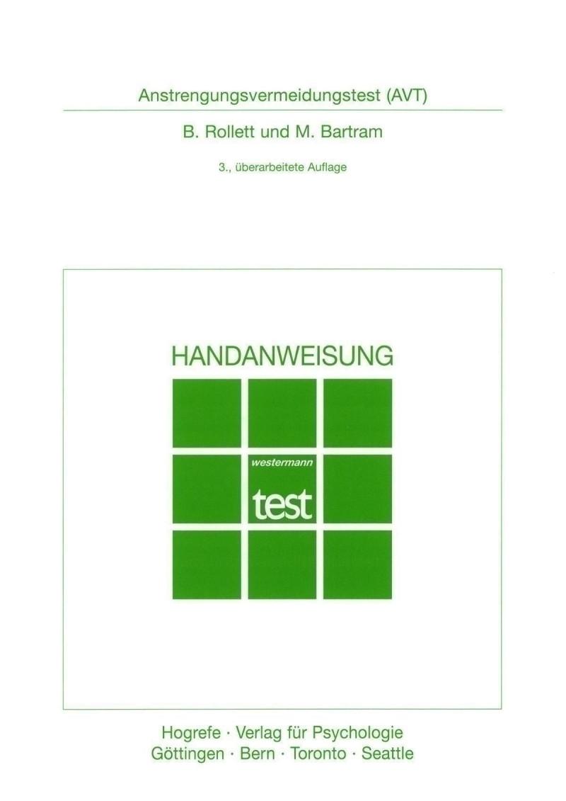 Test komplett bestehend aus: Handanweisung, 10 Testheften, Schablone und Mappe
