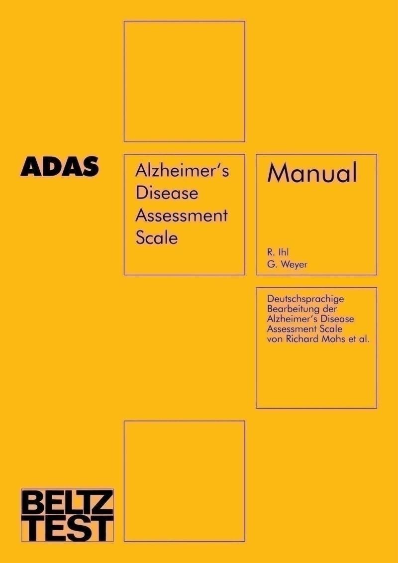 Test komplett bestehend aus: Manual, je 1 Protokollbogen A, B, C, D und E, Testmaterial und Koffer