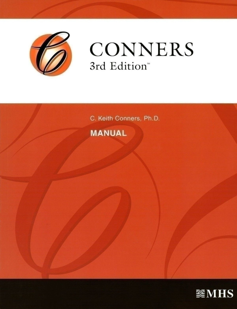 Conners 3 Full Form User's Package includes: Manual, 25 Parent/Teacher/Self-Report QuikScore Forms. Forms updated with DSM-5 Scoring.