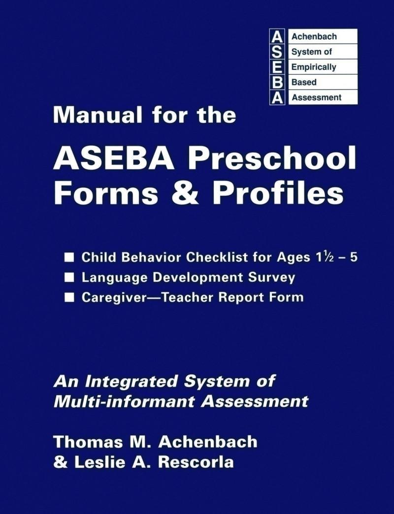 Test komplett bestehend aus: Manual (englisch), 25 Fragebogen und 50 Auswertungsbogen (englisch)