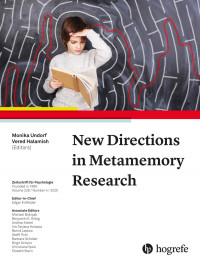 New Directions in Metamemory Research