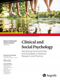 Clinical and Social Psychology