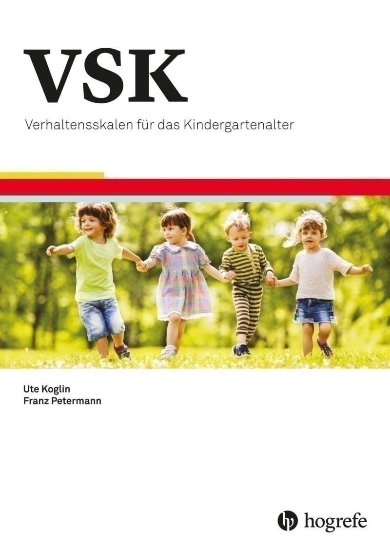 Test komplett bestehend aus Manual, 10 Fragebogen für Eltern (VSK-EL), 10 Fragebogen für pädagogische Fachkäfte (VSK-PF), 10 Auswertungsbogen, 10 Profilbogen, Schablonensatz und Mappe