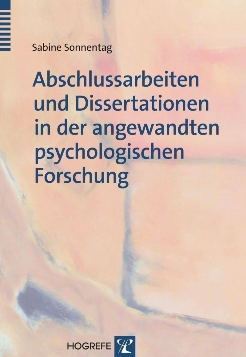 Abschlussarbeiten und Dissertationen in der angewandten psychologischen Forschung