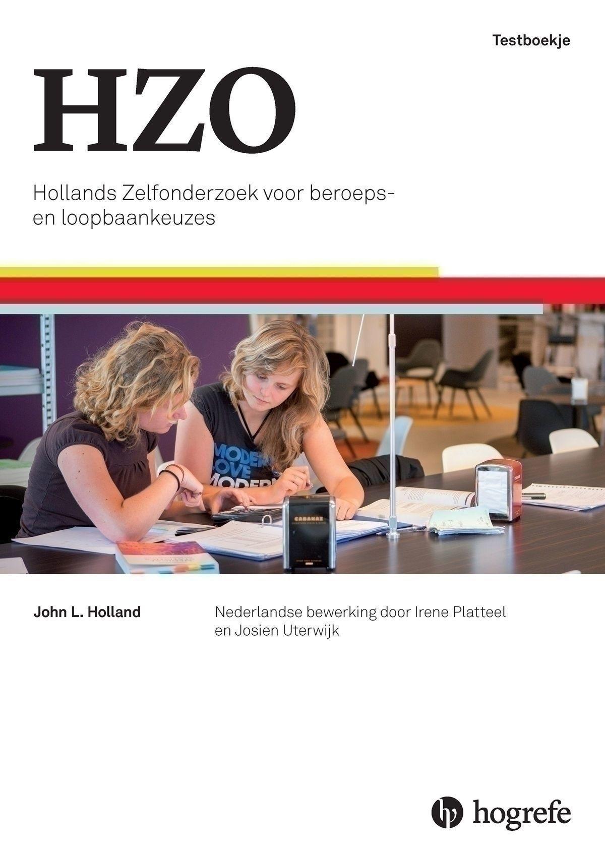 HZO startpakket mbo en lager, bevat Handleiding, Testboekjes (10), Beroepenzoeker mbo en lager (10) in box
