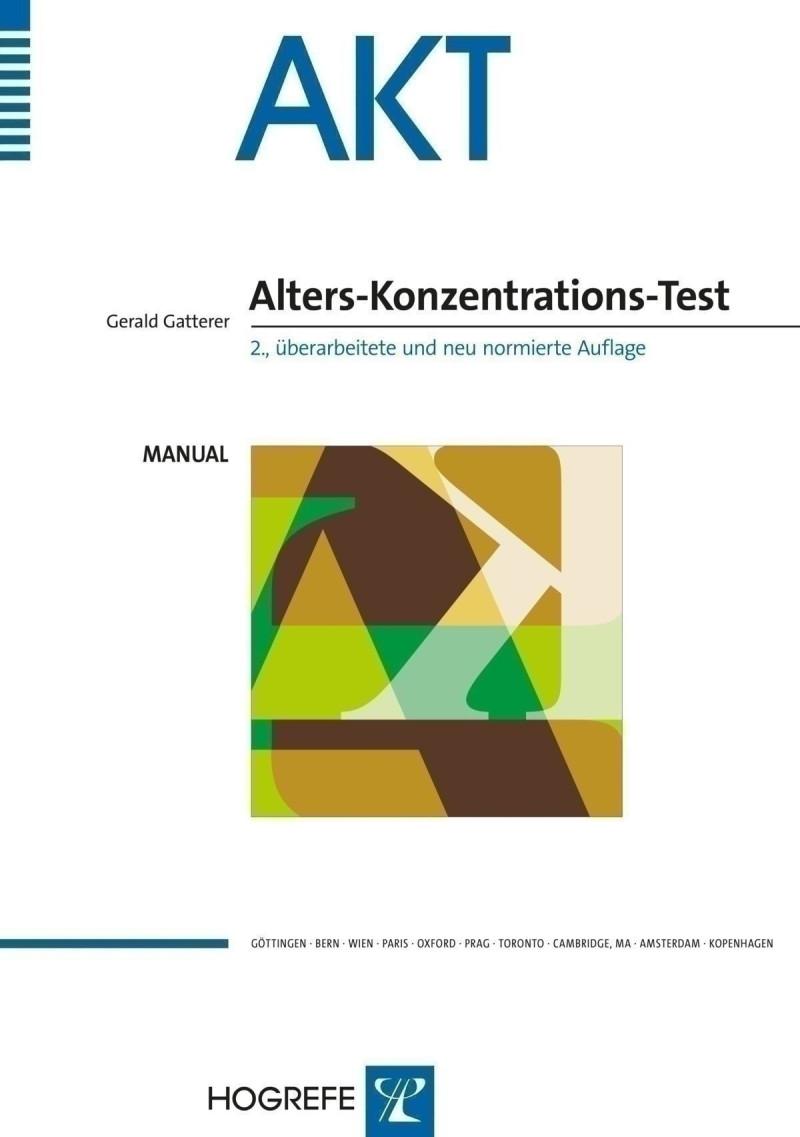 Test komplett bestehend aus: Manual, Testbogensatz (5), Schablonensatz und Mappe