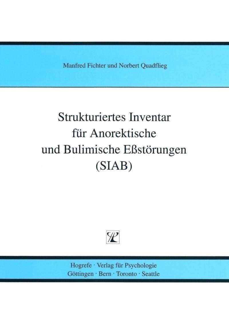 Test komplett bestehend aus: Manual, je 5 Interviewheften (SIAB-EX) und Fragebogen (SIAB-S), je 5 Auswertungsbogen SIAB-S und SIAB-EX, je 5 Algorithmen nach DSM-IV (SIAB-EX), Algorithmen nach DSM-IV (SIAB-S), Algorithmen nach ICD-10 (SIAB-EX), Algorithmen