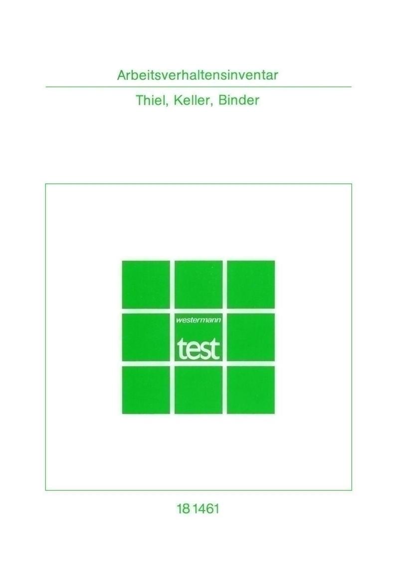 Test komplett bestehend aus: Handanweisung, Fragebogen, Antwortbogen, Profilbogen, Arbeitsverhaltensmodifikation und Mappe