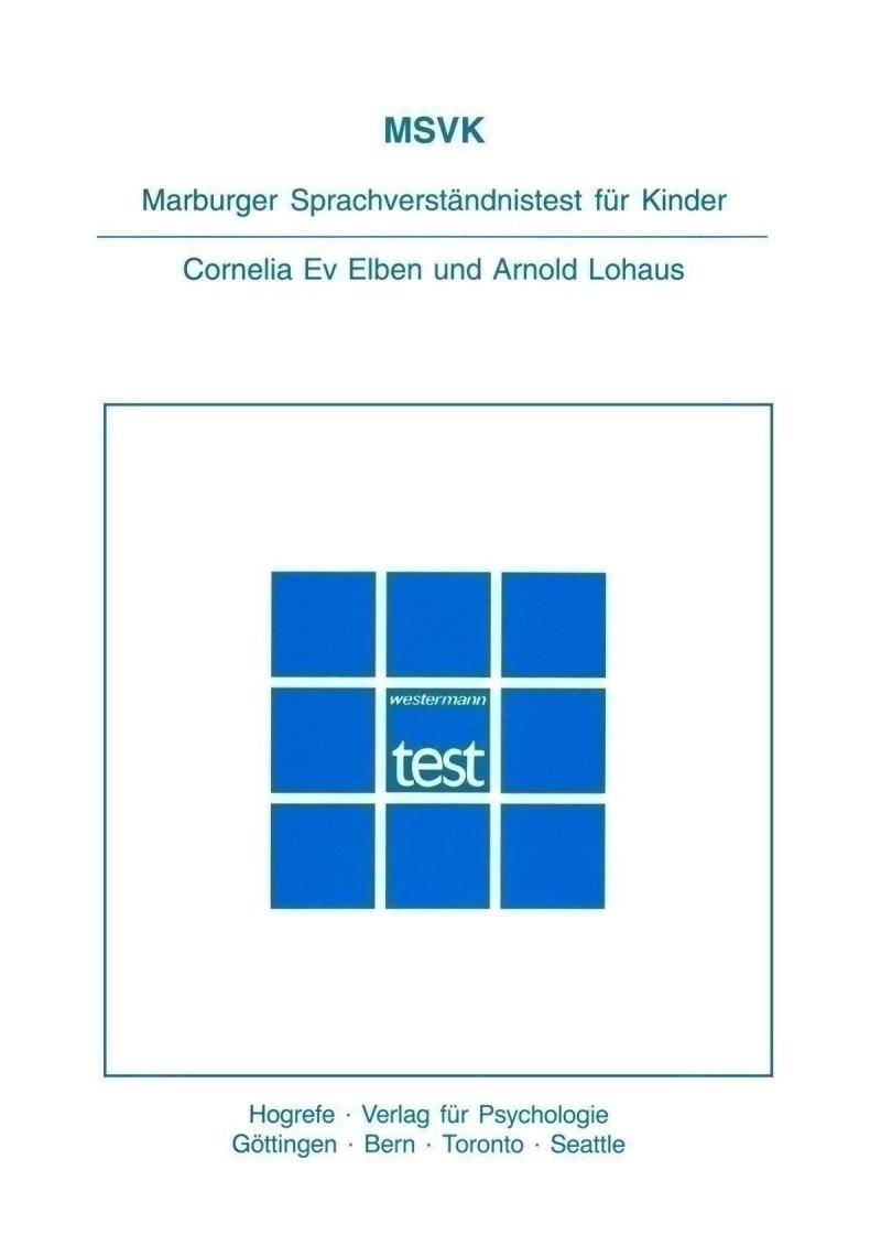 Test komplett bestehend aus: Handanweisung, 5 Testheften, 5 Auswertungsprotokollheften und Mappe