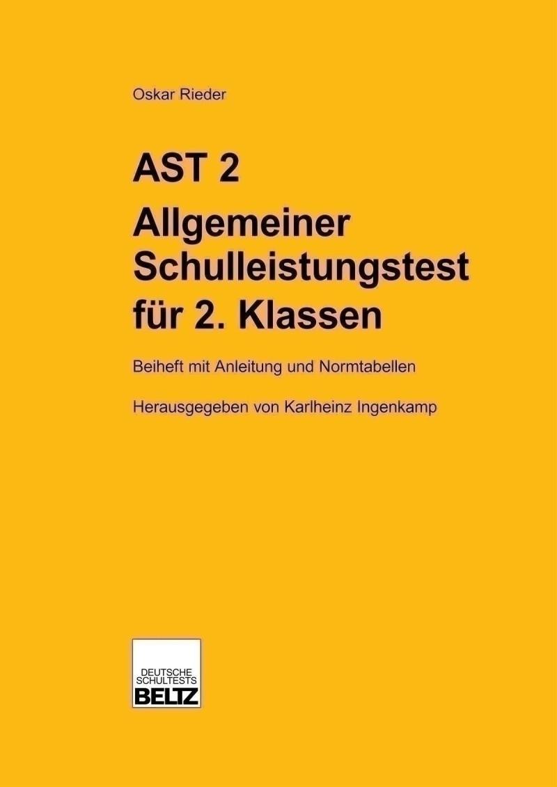 Mustermappe bestehend aus: Manual, Muster-Testheft Form A + B und Auswertungsschlüssel