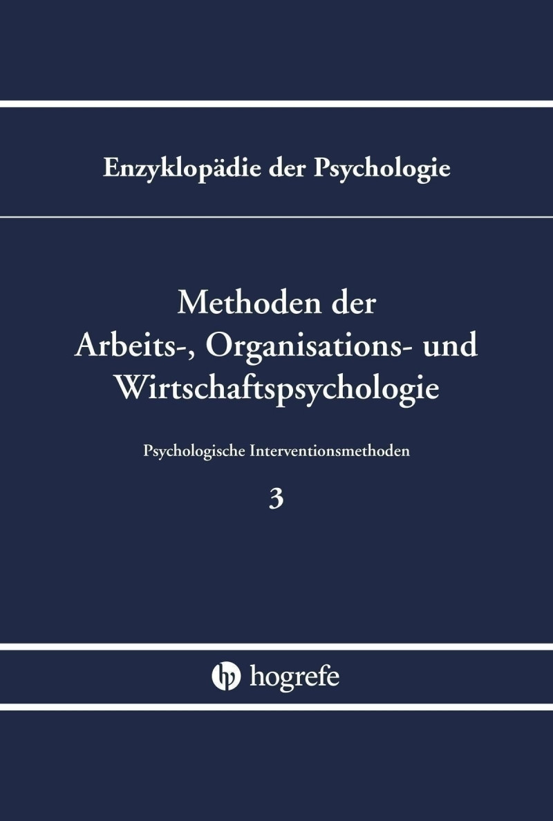 Methoden der Arbeits-, Organisations- und Wirtschaftspsychologie (B/III/3)