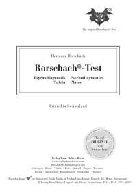 Rorschach/RIAP