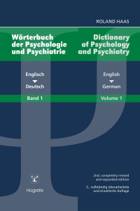 Wörterbuch der Psychologie und Psychiatrie - Dictionary of Psychology and Psychiatry