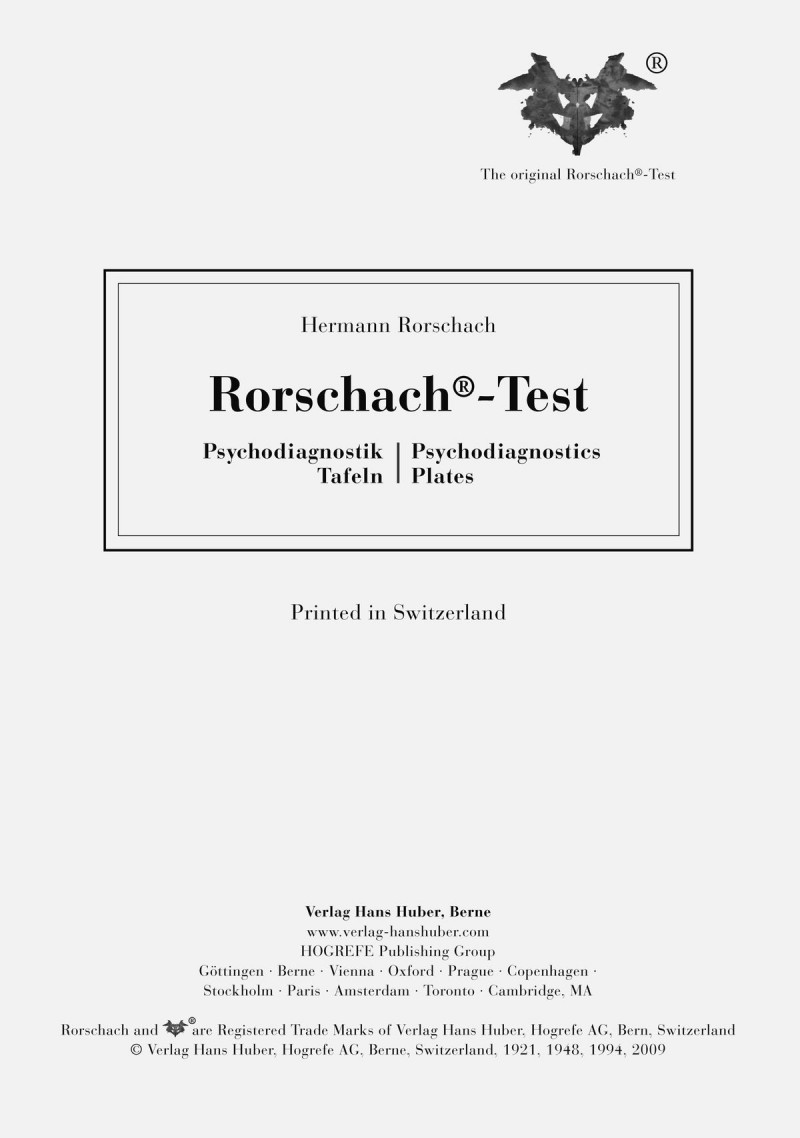 Rorschach Psychodiagnostics