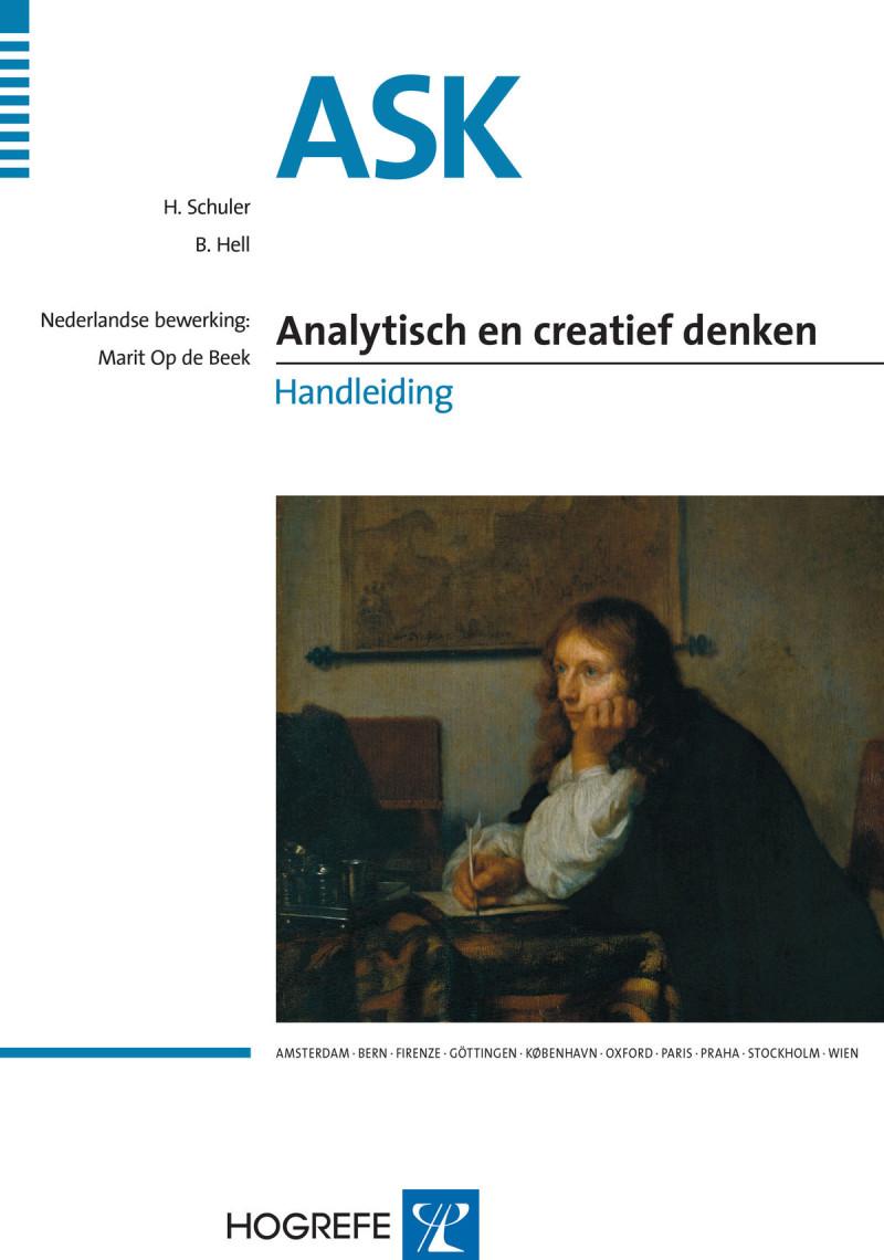 ASK startpakket (handleiding, 1 Analytisch denken testboekje met 10 formulieren, 5 Creatief denken testboekjes, instructiekaart en scoringsprogramma, in box)