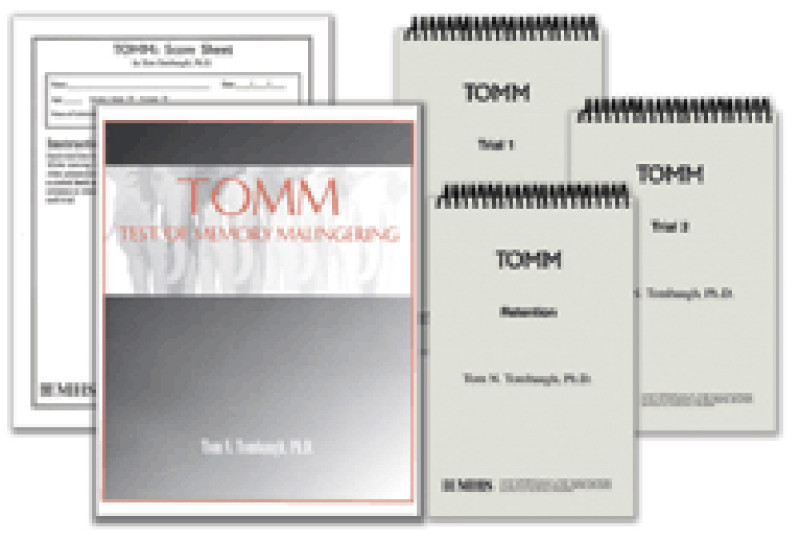 TOMM Complete kit (TOMM Manual, 1 set of Stimulus Booklets, 25 Recording Forms)