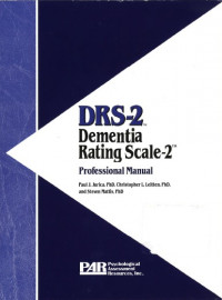 Dementia Rating Scale, Second Edition