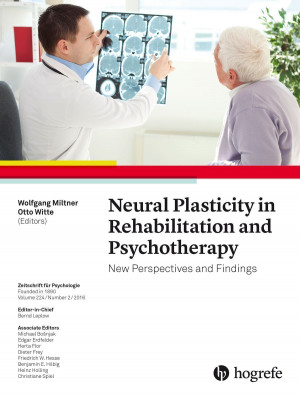 Neural Plasticity in Rehabilitation and Psychotherapy