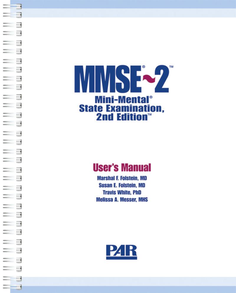 Standard Version Kit (User Manual, 25 MMSE-2:SV Blue Forms, 25 MMSE-2:SV Red Forms, 10 MMSE-2:BV Blue Forms, 10 MMSE-2:BV Red Forms, Pocket Norms Guide)