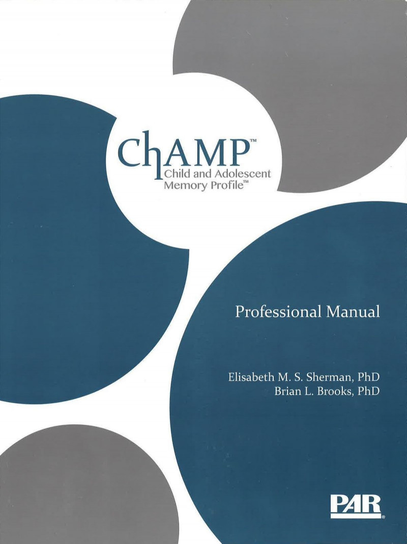 Introductory Kit (includes ChAMP Professional Manual with Fast Guide, 25 Record Forms, and Stimulus Book)