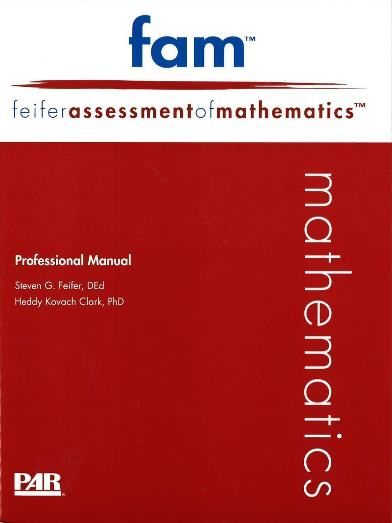Comprehensive Kit (includes FAM Professional Manual with Fast Guide, 10 Examiner Record Forms, 10 Examinee Response Forms, Stimulus Book 1, Stimulus Book 2)