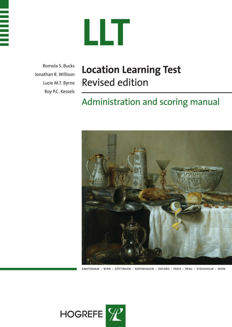 Complete Kit (LLT Manual, Test Grid, Practice Grid, 22 Picture Cards, 20 Scoring Forms - Version A, 10 Scoring Forms - Version B)