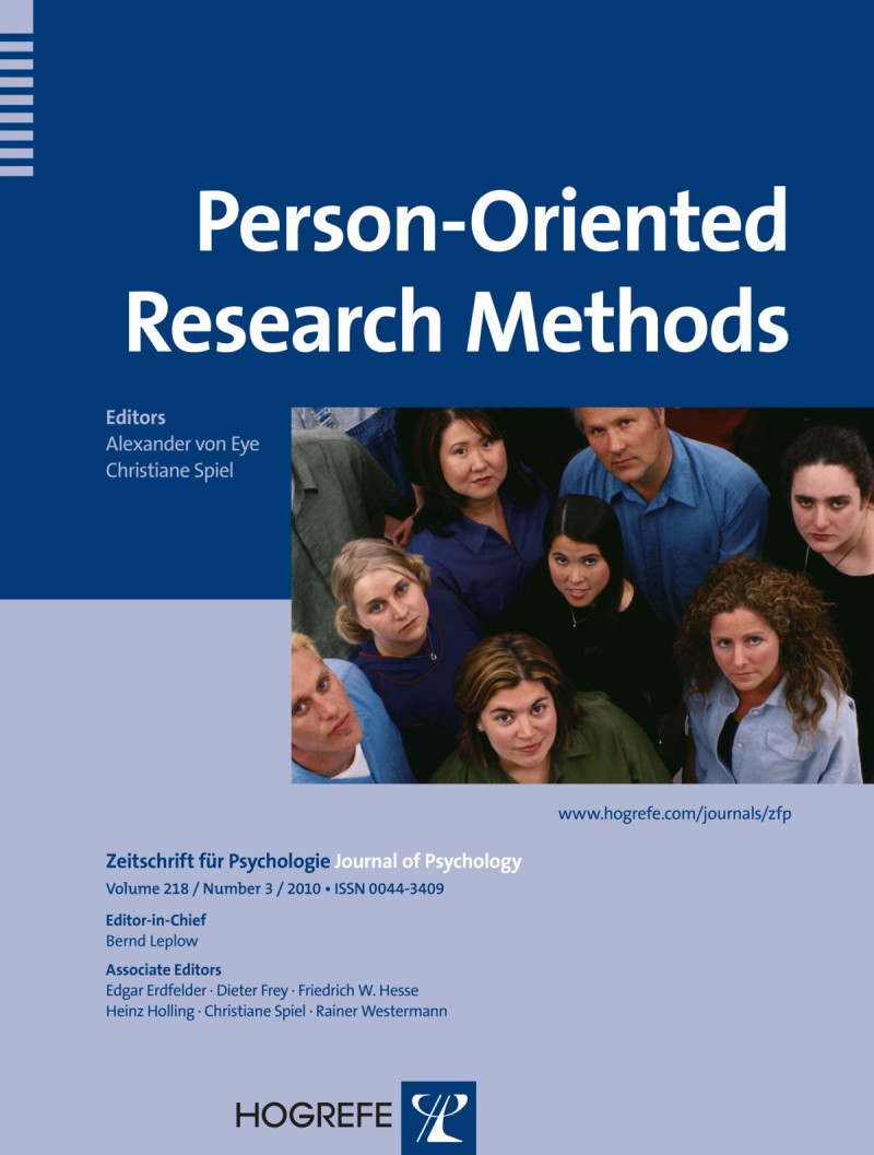 Person-Oriented Research Methods